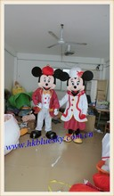 Adult splendid attire Mickey and Minnie mascot costume Mickey mascot costume Minnie cosutme for sale