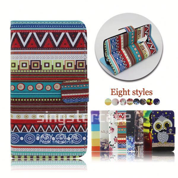 wallet leather phone case cover for lg p705 optimus l7 p700