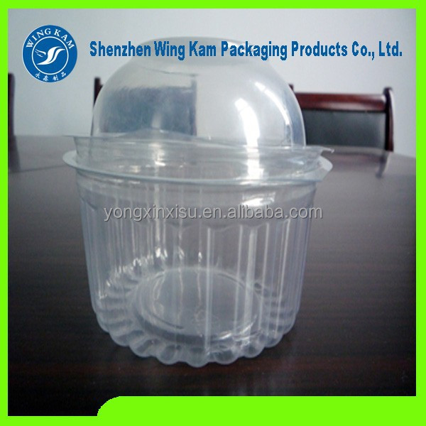 PET cake container box for muffin packing