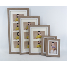 New MDF Collage Wrapped Photo Frame Set In Wooden Looking