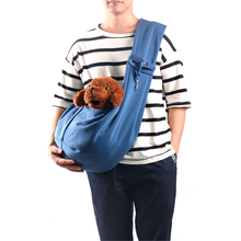 reversible double-sided dog sling carrier for pet travel bag