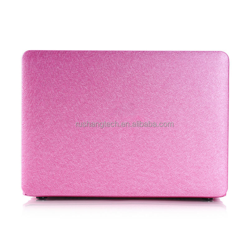 New Design Silk Leather case Matt Case for macbook case Air 12'' or for Macbook Pro 13'' pure color bulk in stock factory OEM