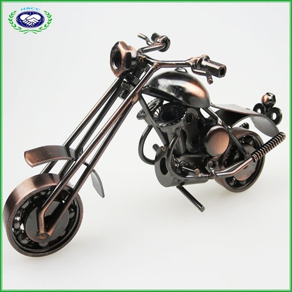 Metal Carft Motorcycle Model with Antique Imitation for Home Decoration and Businiess Gifts