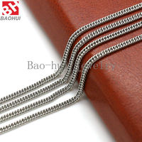 Fashion Gift Customized 2.7MM Wide Mens Chain Necklace Curb Cuban Link Gold/Silver Stainless Steel Necklace Jewelry For Pendant