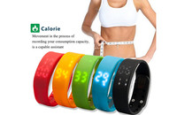 Good Price Silicone Calorie Pedometer Watch with Wristband