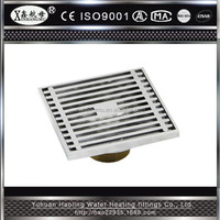 Square Drain Grating Covers Bar-Type Kitchen Anti Odor Floor Drain