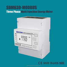 MID approved SDM630-Modbus 3 Phase DIN Rail Multifunction Meter, Electronic MID Smart Energy Meter,RS485 Modbus Meter