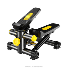 Hot Sale Multifunction Indoor PVC Mute Hydraulic Mini Aerobic Exercise Stepper With Band