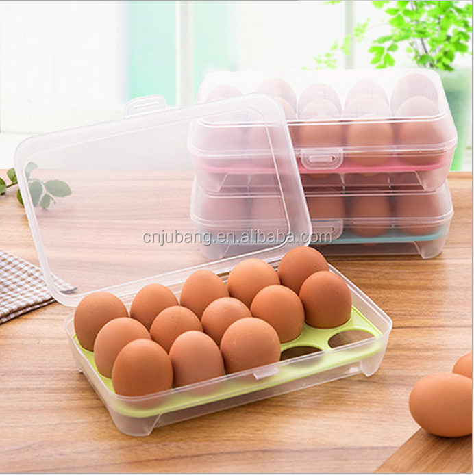 Plastic folding Preserving Eggs Storage Holder Container Case box / Egg Holder
