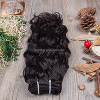 Cheap wholesale price double drawn 24 inch human hair weave extension