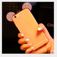 Cell phone accessory ultrathin clear crystal soft tpu phone case for apple for iphone 6
