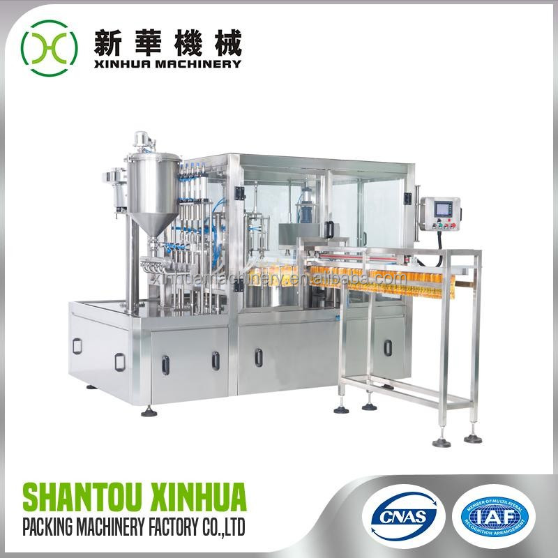 Trade Assurance fruit juice fill and capping machine manufactured in China