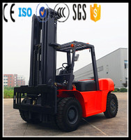 Strong Power Four Wheel 5-7 ton diesel forklift truck with clamp