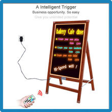 Factory price innovating products stand independently 90 flashing acrylic new colorful led writing board in china