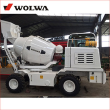 1.2 capacity self loading concrete mixer truck for building industry