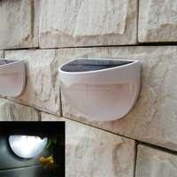 Solar Powered Fence Solar Light 6LEDs Outdoor Solar Security Lamps