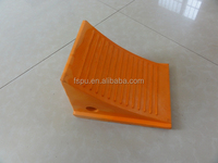 Chinese PU Wheel chock for 60 tons truck Stop blocks Stop truck on slope