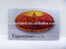 Deep Effect of Silver Craft Plastic Card Supplier