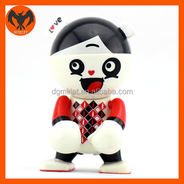Hot selling 3D cute panda cartoon action figures for kids