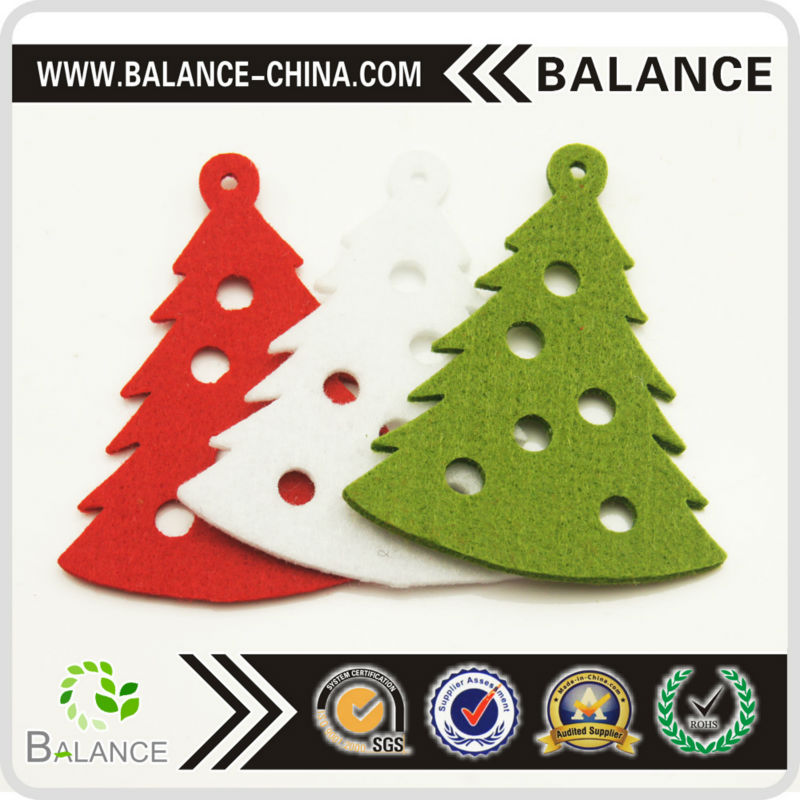 Promotional Christmas Custom Shape Felt Ornaments