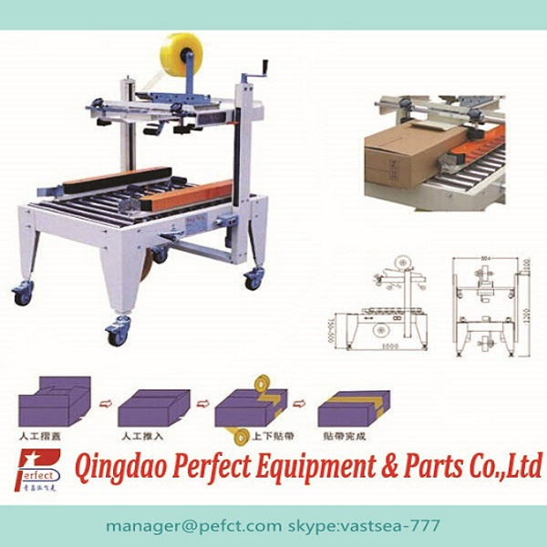 Small automatic corrugated carton box sealer