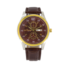 2016 best selling wholesale gold-tone design mens leather watches,cheap watches with customers logo