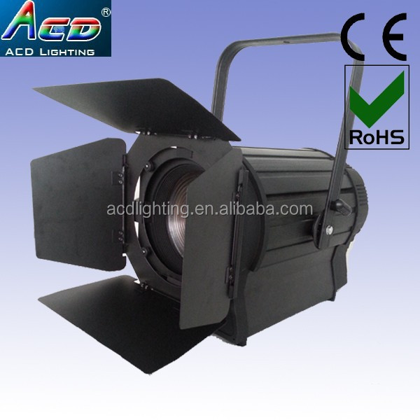 high power 300w warm white 10-50degree zoom led theater profile fresnel photography spot light