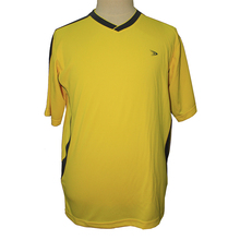top quality polyester fabric black and yellow jersey
