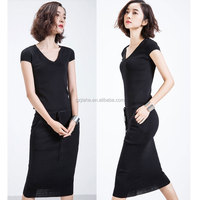 cap sleeve V neck bodycon casual dress fashion lady sexy summer dresses for women