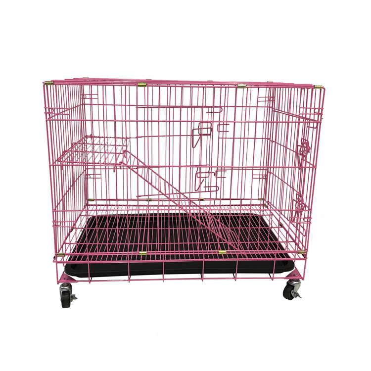Folding net collapsible cat crates with wheels