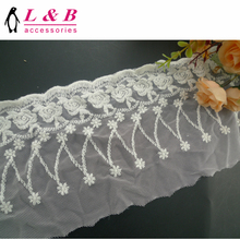 2018 new arrive cheap wholesale flower pattern embroidery cotton chemical tulle lace