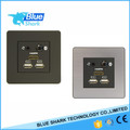 86*86mm aluminum panel Mini hotel medial hub with bluetooth HDMI Audio and dual USB charging