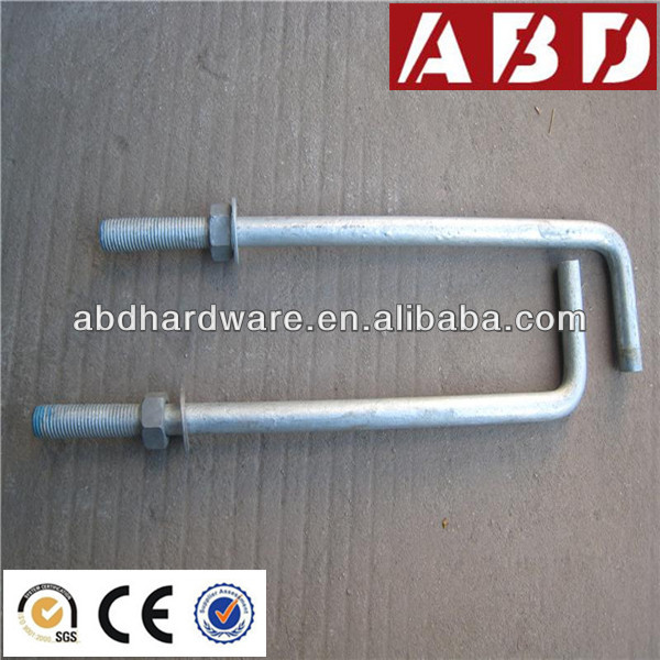 J Typed Anchor Bolt for Concrete Formwork