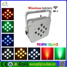 High power Wireless Led Uplight, Battery Powered Wireless Dmx LED Par Flat, Led Par Can