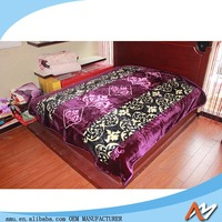 Professional manufacture flannel blanket with customer logo China factory