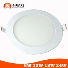 Ultrathin 5 Years Warranty 6W Round LED Drop Ceiling Light Panels With TUV Certificates