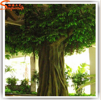 large artificial decorative model tree of ficus tree for