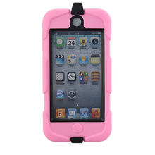 Waterproof hard cellphone case for ipod touch 5 /6 with stand case