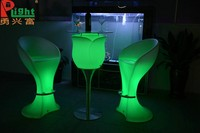 Newest style plastic mould led glowing furniture led table
