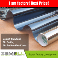solar mirror finish dyed reflective one way Zsmellion well design building solar tint film