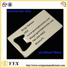 Zinc Alloy Metal Business Card with Bottle Opener