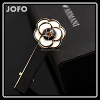 Neoglory Simulated Pearl Hair Barrette Enamel Cute Flower Shaped 14K Gold Plated Women 2015 Wholesale