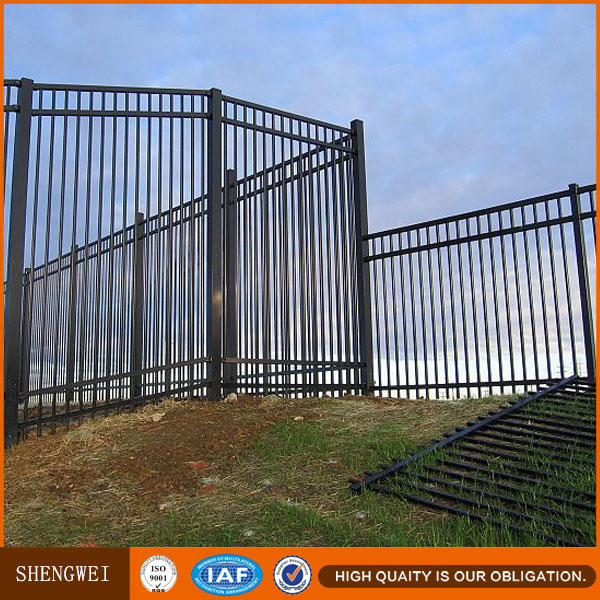 Crimp spear 2100mm high metal security fence agency