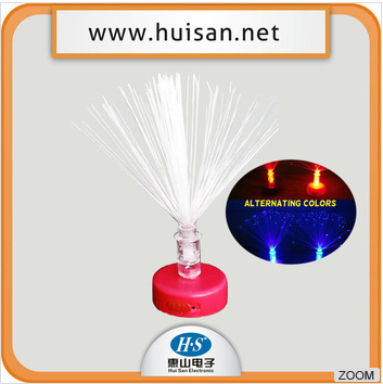 christmas tree decoration led light with optical fiber to candle
