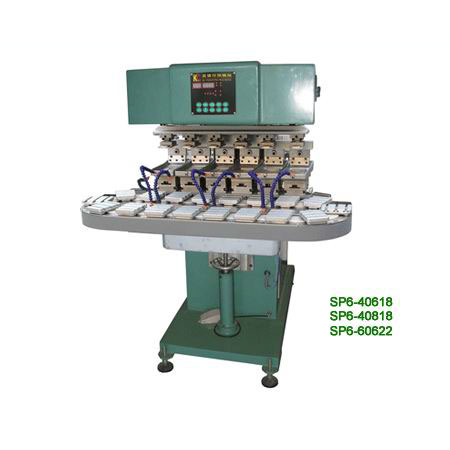 Six colours Conveyer pad printer for hardware