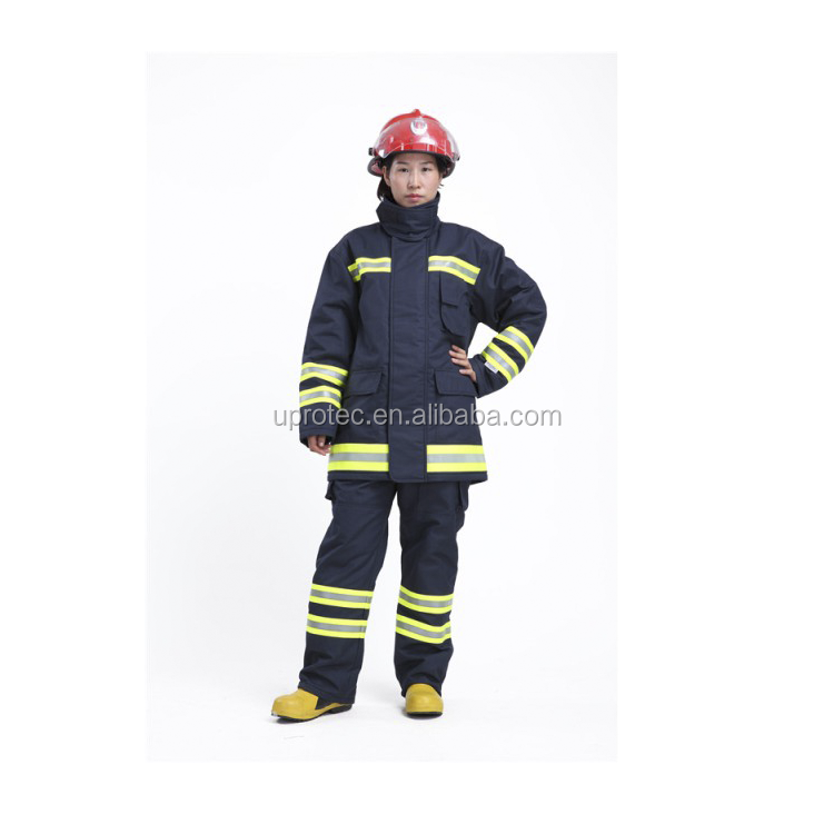 High Quality EN469 Fire Fighting Suits / Nomex Kevlar Fire Suit / Nomex Firefighting Suit