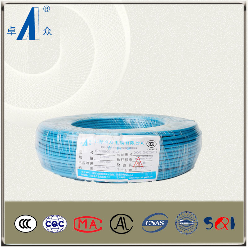 High quality copper insulated electrical wire names of PVC insulator copper electrical wire 1.5sqmm wire