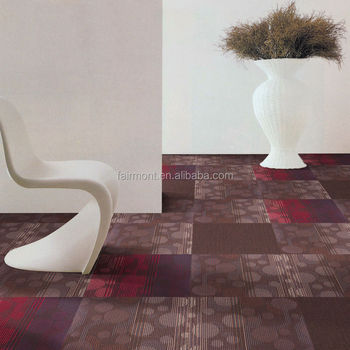 Rubber Backed Carpet Tiles for Office / 100% PP Carpet Tiles with Bitumen Backing for Office, Hotel CZ-01