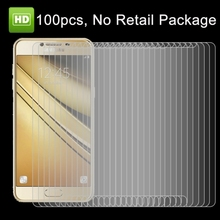 Wholesale 100 PCS for Samsung Galaxy C5 / C500 HD tempered glass Screen Protector, No Retail Package