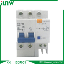 Earth leakage type 30ma mini circuit breaker (MCB) with CE
